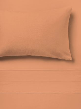 Flannelette Brandy Plain-Dyed Sheet Set