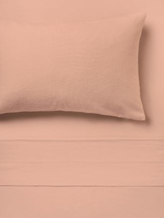 Flannelette Rose Plain-Dyed Sheet Set