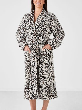 Plush Leopard Robe