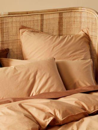 Terra Organic Cotton Caramel Standard Pillowcase Pair
