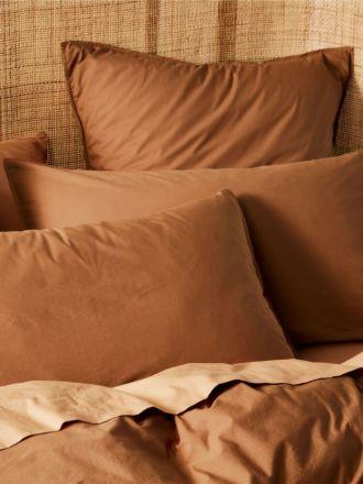 Terra Organic Cotton Pecan Standard Pillowcase Pair