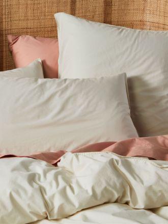 Terra Organic Cotton Stone Standard Pillowcase Pair