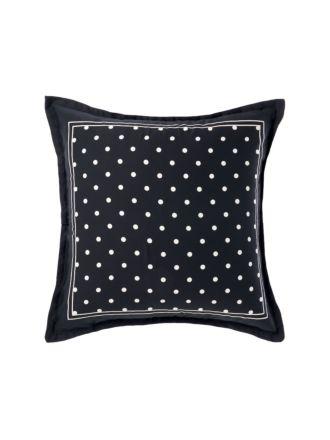 Vivienne Black European Pillowcase