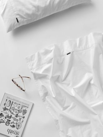 300TC White Cotton Percale Sheet Set