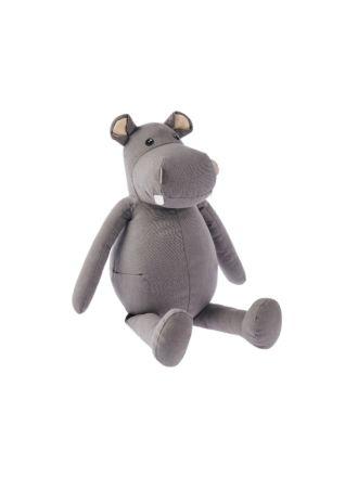 Hippo Snuggle Buddy Novelty Cushion