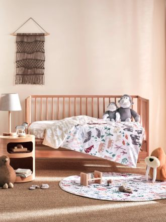 I Spy Something Wild Cot Quilt Cover