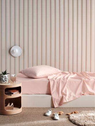 Lollipop Petal Pink 225TC Cotton Sheet Set
