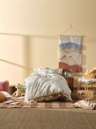 Nimes Natural Linen Kids Quilt Cover Set