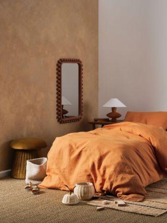 Nimes Terracotta Linen Kids Quilt Cover Set