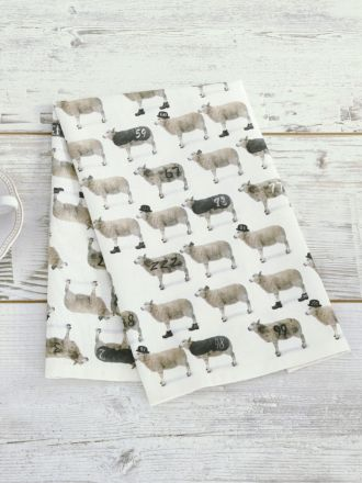 Counting Sheep Tea Towel