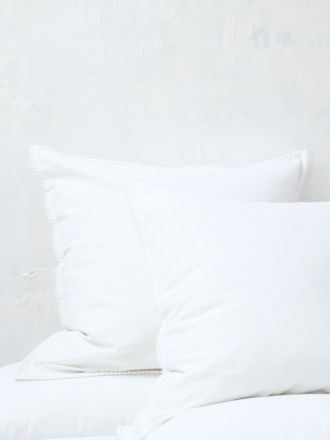 Stitch White European Pillowcase