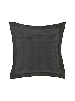 Deluxe Waffle Charcoal European Pillowcase