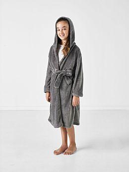 Plush Kids Charcoal Robe