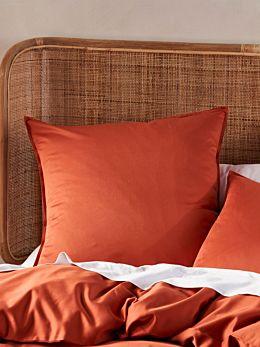 Aria Paprika Bamboo Cotton 600TC European Pillowcase