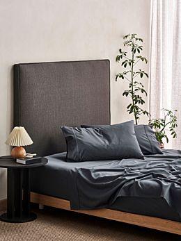 Aria Slate Bamboo Cotton 600TC Sheet Set