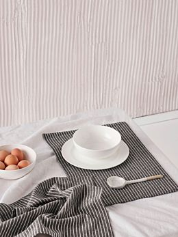 Grey Stripe Placemat