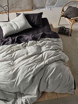 Napier Black Quilt Cover Set