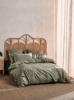 Nara Bamboo Cotton Moss Quilt Cover Set