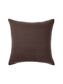 Nimes Espresso Linen European Pillowcase