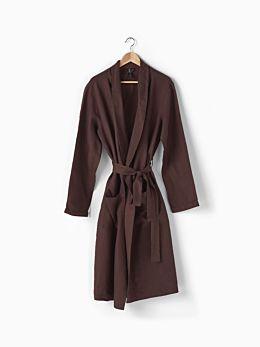 Nimes Espresso Linen Robe