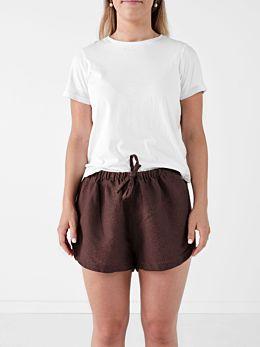 Nimes Espresso Linen Shorts
