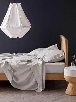 Pure Linen Grey Sheet Set