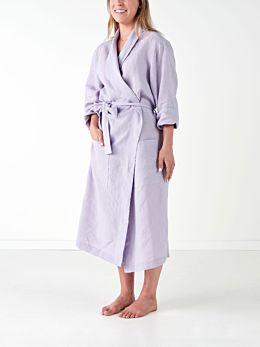 Nimes Lilac Linen Robe