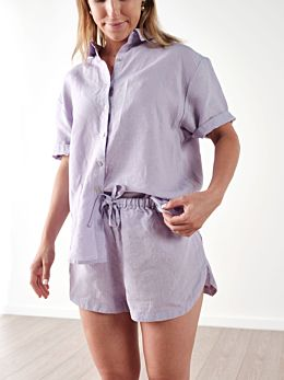 Nimes Lilac Linen Shirt