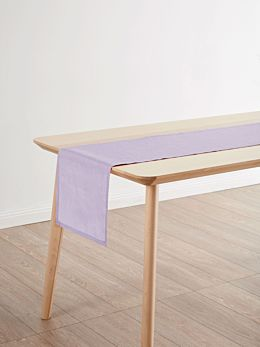 Nimes Lilac Linen Table Runner