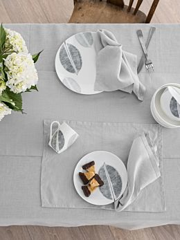 Nimes Grey Linen Placemat