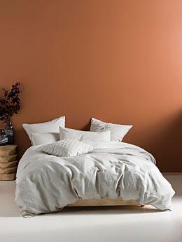 Nimes Grey Linen Quilt Cover Set