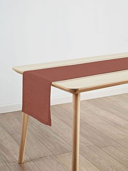 Nimes Rust Linen Table Runner