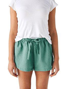 Nimes Sea Foam Linen Shorts