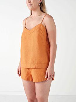 Nimes Terracotta Linen Cami