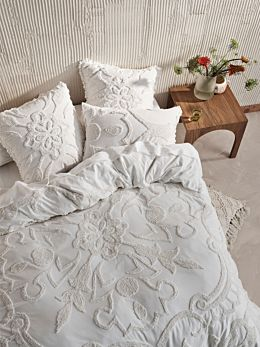 Rapallo White Quilt Cover Set