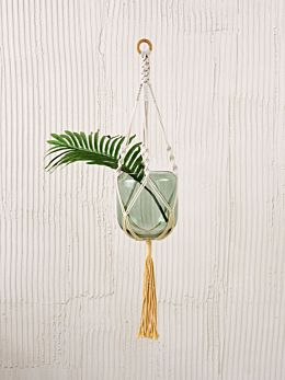 Sweetwater Yellow Pot Plant Hanger 90cm