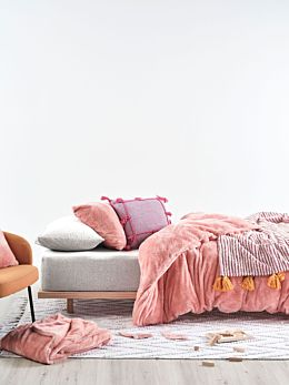 Milly Coral Quilt Cover Set