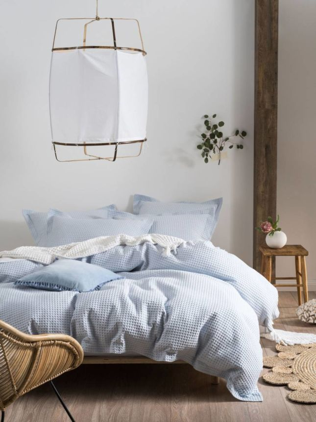 Deluxe Waffle Soft Blue Quilt Cover Set   SALE Quilt Cover Sets   Bedroom    Sale   Root Linen House HK