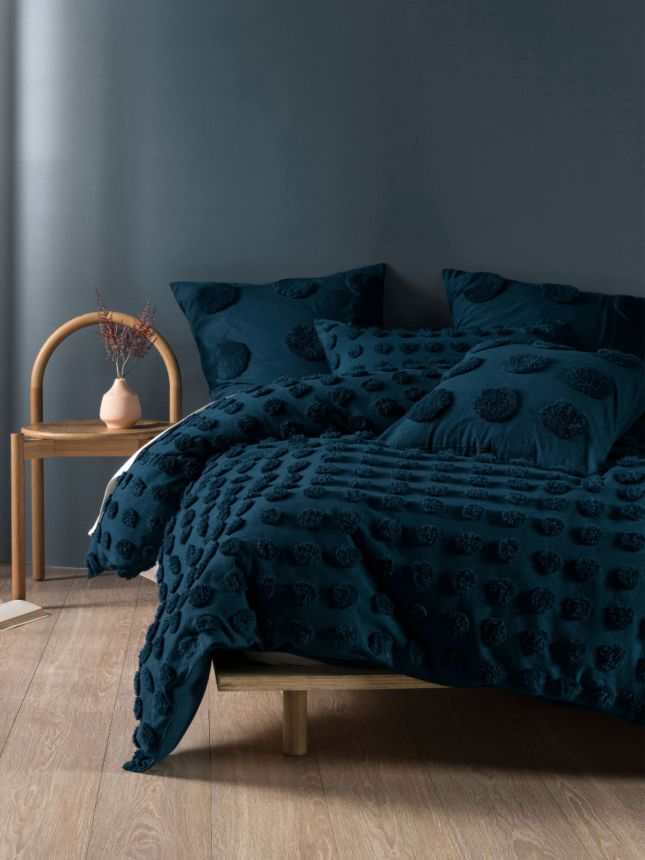Haze Teal Quilt Cover Set Chenille