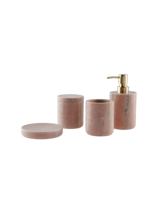 Pink Bathroom Accessories Sets.Marble Pink Bathroom Collection