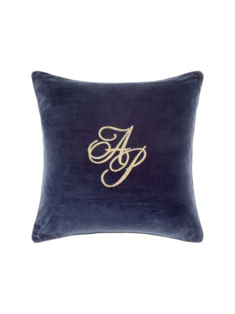 Monogram Navy Cushion 60x60cm