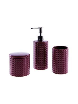 Angular Wine Bathroom Collection