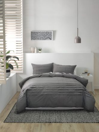 Spencer Charcoal Quilt Cover Set
