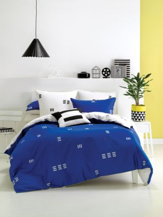 Triplicity Blue Quilt Cover Set