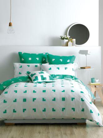 Meta Green Quilt Cover Set