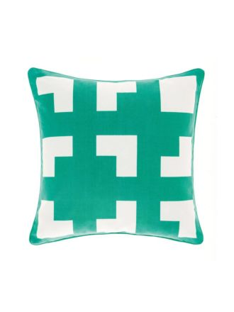 Meta Green Cushion 45x45cm