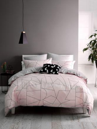 Fraction Pink Quilt Cover Set