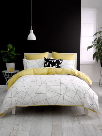Fraction Yellow Quilt Cover Set
