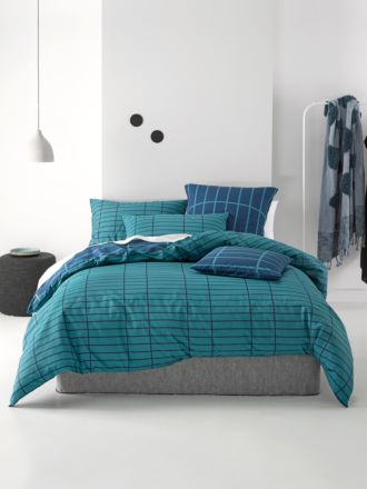 Vasco Teal Quilt Cover Set