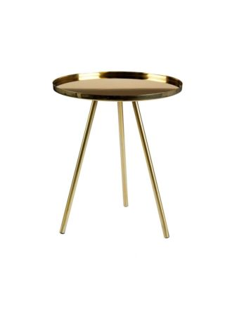 Amata Antique Gold Side Table